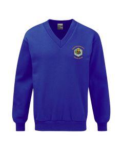 Brompton Community Primary School Embroidered V Neck Sweatshirt