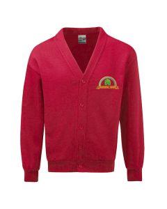 Deighton Gates embroidered fleece cardigan