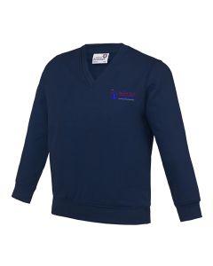 Denaby Main Primary Academy Embroidered V-Neck Sweatshirt