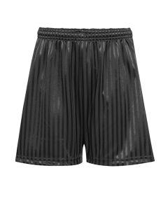 Black PE Shadow Stripe Shorts