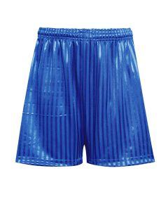 Royal Blue PE Shadow Stripe Shorts