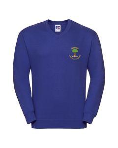 Mowden Embroidered V-Neck Sweatshirt
