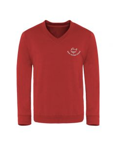 North Duffield C P School Embroidered V Neck Sweatshirt