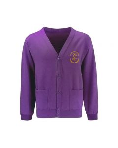 Our Lady Queen of Martyrs Embroidered Cardigan