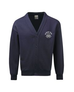 Rufford Park Navy Blue Fleece Cardigan
