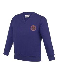 Soaring High Montessori School Embroidered V-Neck Sweatshirt