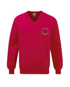 St Marys School Embroidered V Neck Sweatshirt